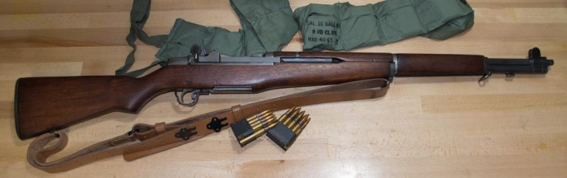 Most rifles, like this M1 Garand, have a long and very forgiving sight radius.