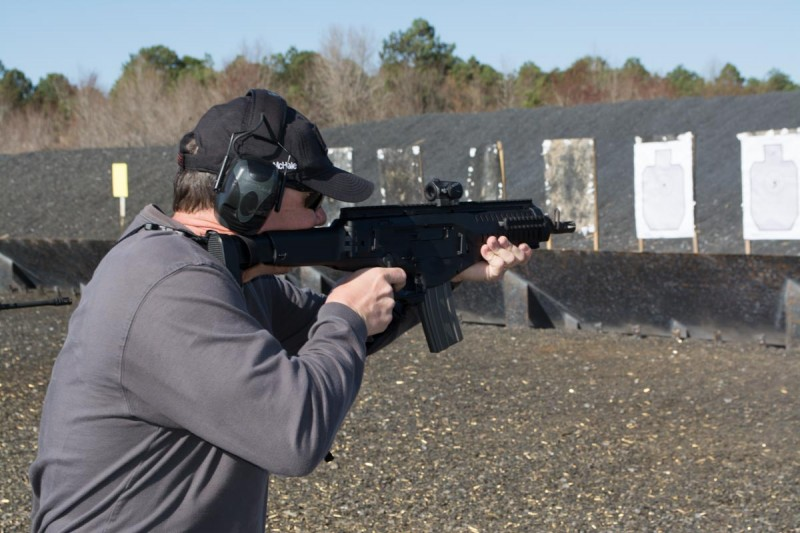 One of the reasons rifles are easier to shoot is that they provide three anchor points to the body.