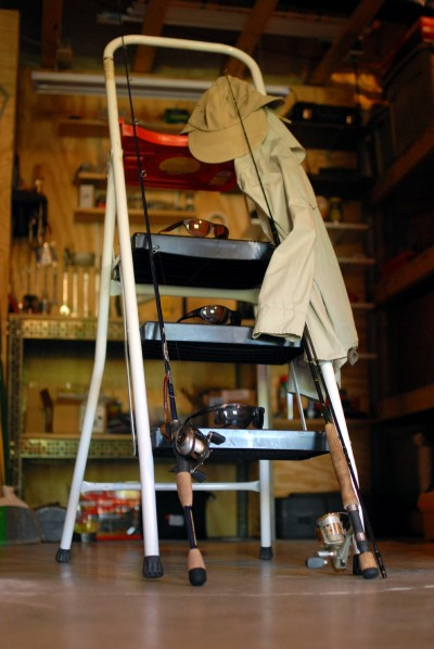 From workshop to boat deck, consider bringing a sturdy stool on your next sight-fishing outing.