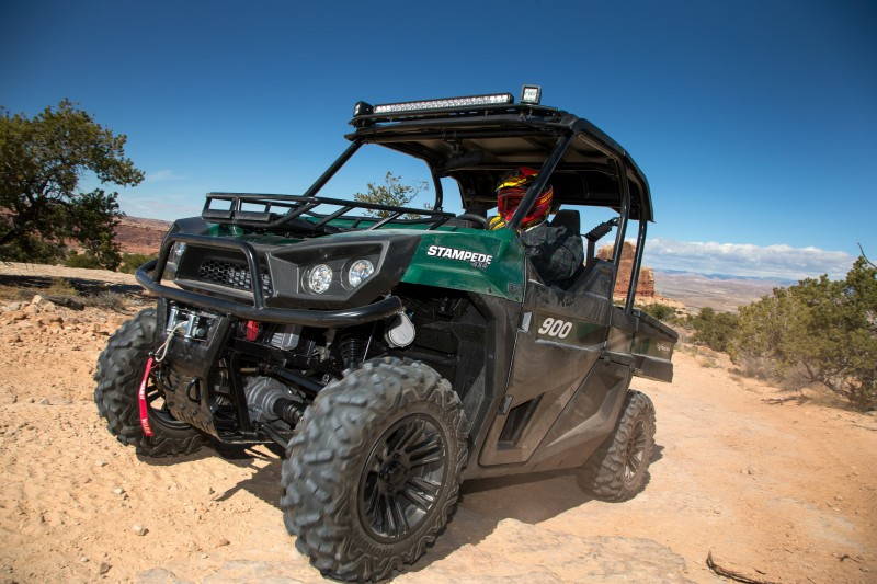 Stampede fits the utility/recreation category well, being both a capable work and trail machine. This makes it a great option for hunters and outdoors men and women.