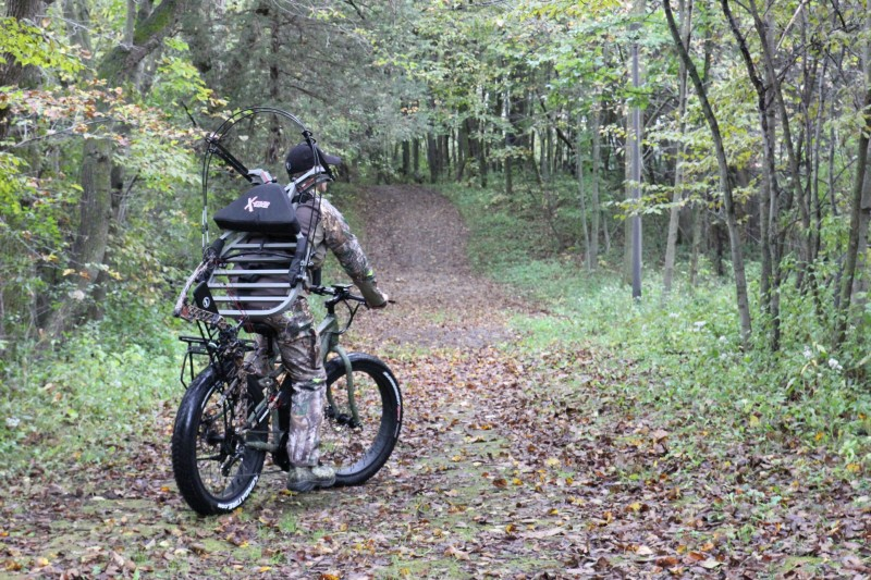 Most public hunting areas used by DIY whitetail hunters have some access roads that make bike travel easy. (Photo courtesy Rambo Bikes.)