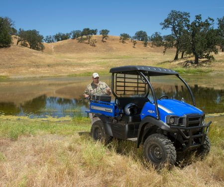 The 2017 Kawasaki Mule SX XC offers a lot of capability in a smaller UTV package.