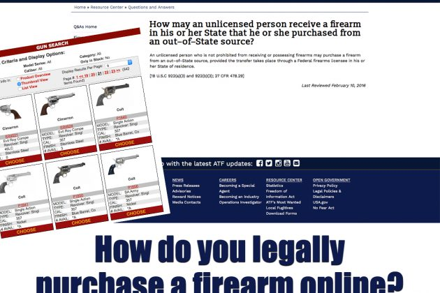 How to legally purchase a firearm online.