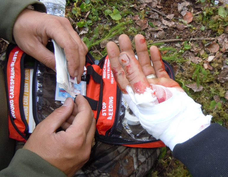 A first aid kit is mandatory in anyone's bugout bag.