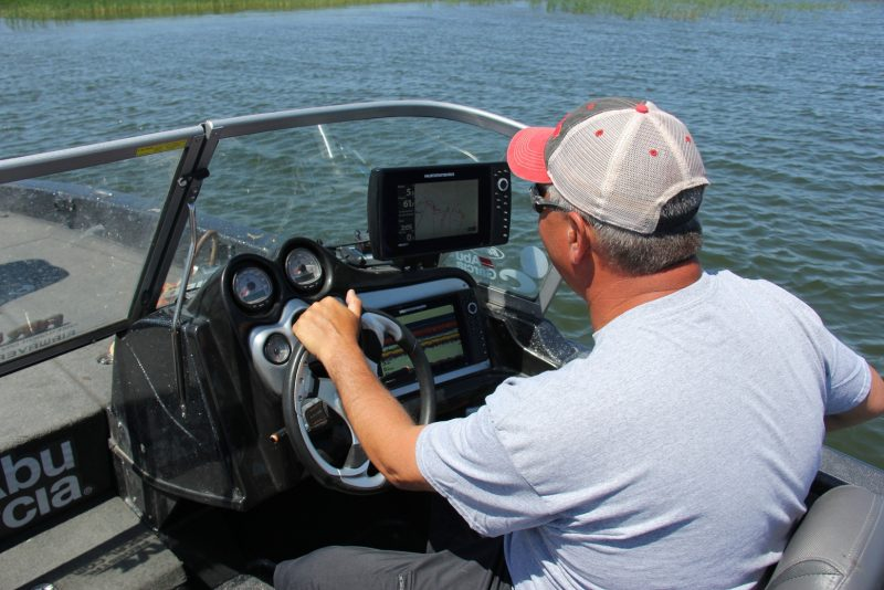 The best cabbage is found along shallow sloping banks. Use a high-quality fishfinder to locate these beds and then fish them as vertically as possible.