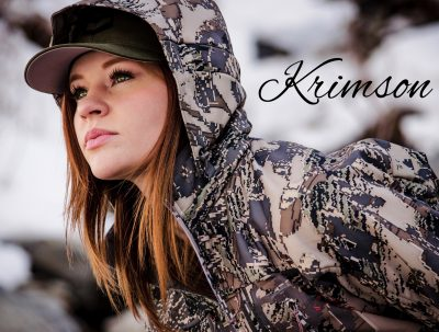 I was at a Mule Deer Foundation fundraising banquet in May when I met Krimson and her family. Krimson is an amazing young lady who is not only an amazing huntress, but a talented musician and songwriter. From her website, here is her story: