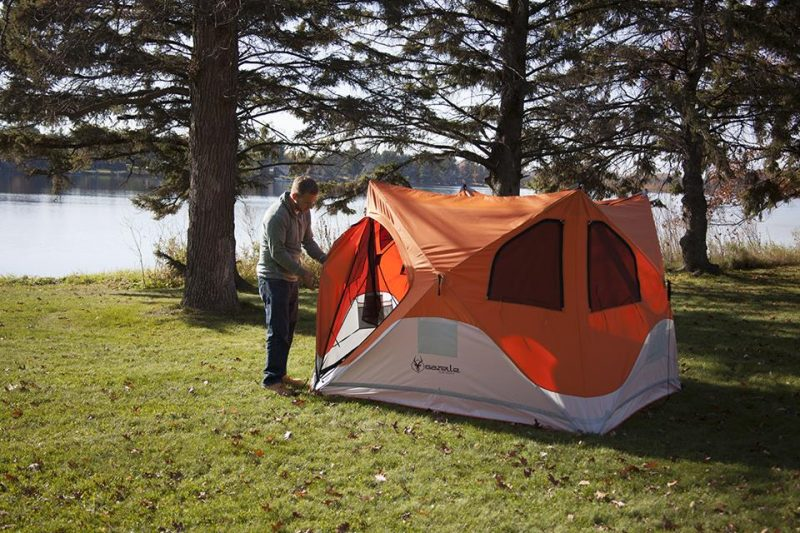 Setting up the Gazelle tent is ridiculously easy, and takes just 90 seconds.