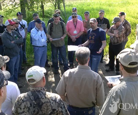 Hands-on instruction at quality deer managed properties like Lee Lakosky's is one of the benefits of the QDMA Deer Steward Program.