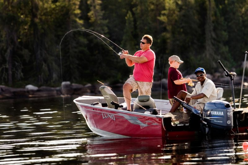 Guests fish in topnotch boats and are provided the best gear and guides at Aikens.