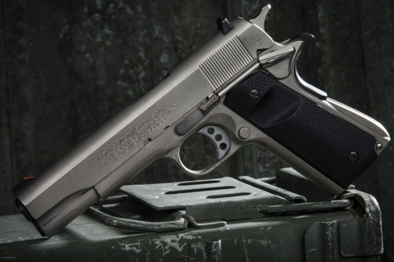 The stainless Colt 1911 Government Model – a classic example of the 1911.