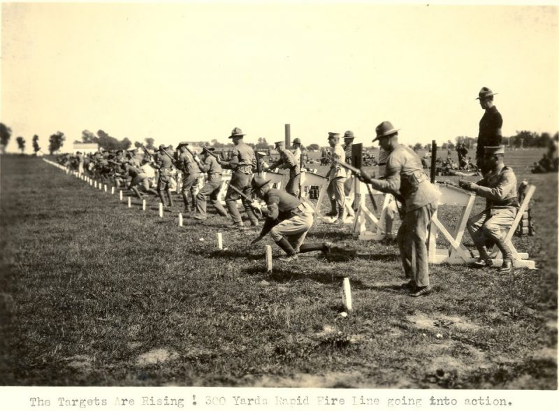 Camp Perry in 1923 during a 300-yard rapid fire stage.
