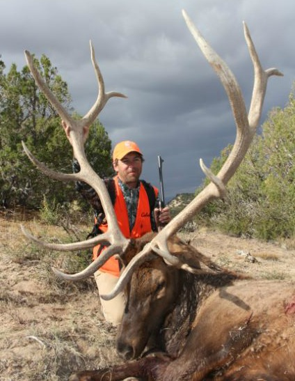 The author tagged this trophy the elk on BLM land in Colorado.