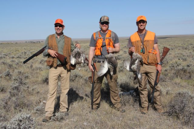 These sage grouse came from BLM land in Montana. From left to right: the author, Backcountry Hunters & Anglers Executive Director Land Tawney, and Montana Wildlife Federation Conservation Director Nick Gevock.