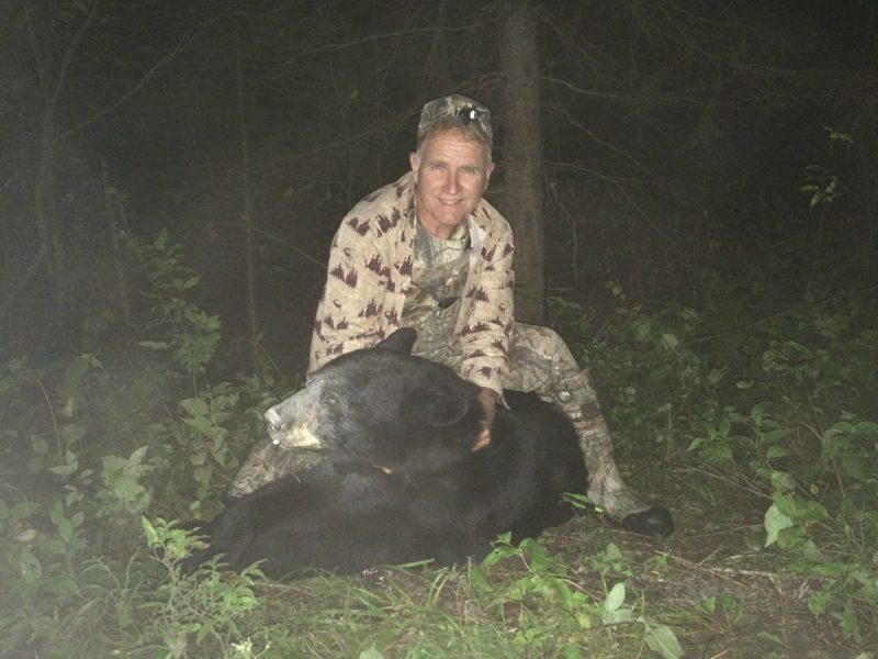 Dave's 250-pound bear is typical of the bear of this area if a hunter is willing to pass up some smaller animals.