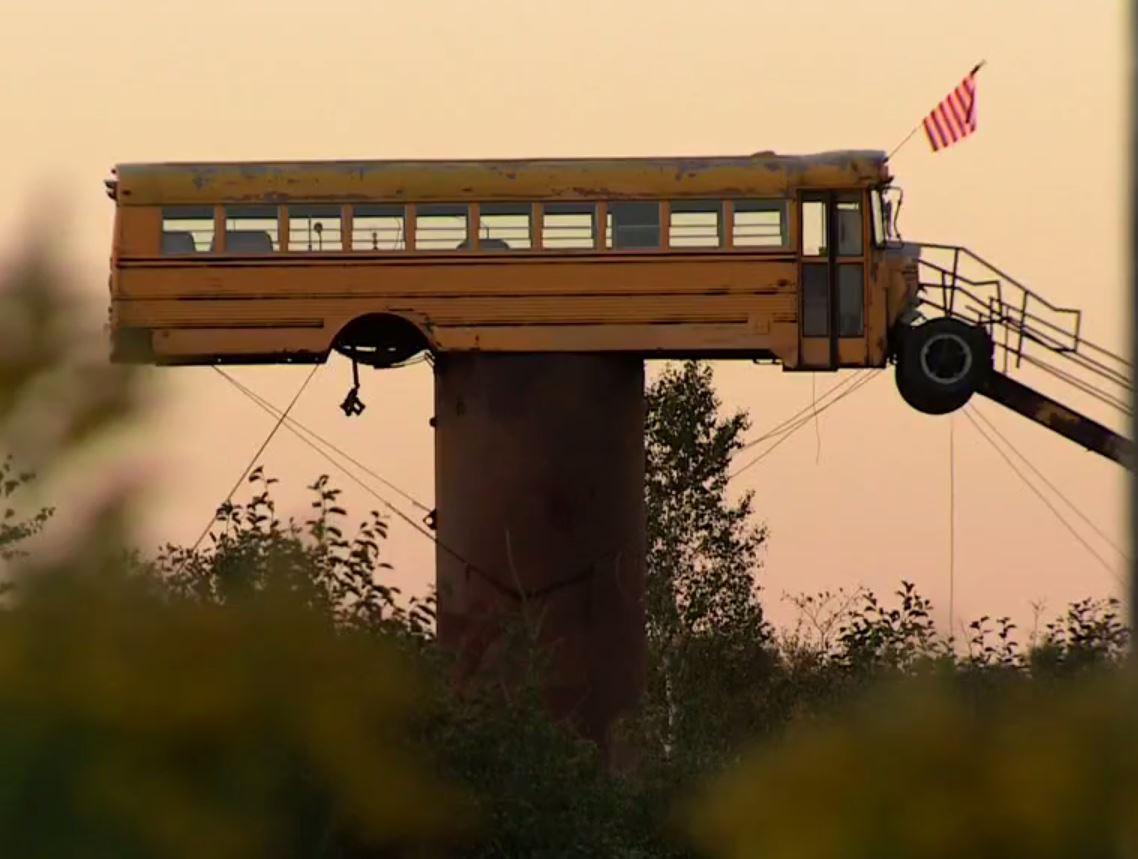 School Bus Deer Blind