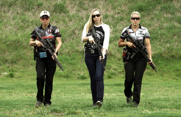 Women Who Shoot (left to right), Dianna Liedorff-Muller, Niki Jones and Becky Yackley.