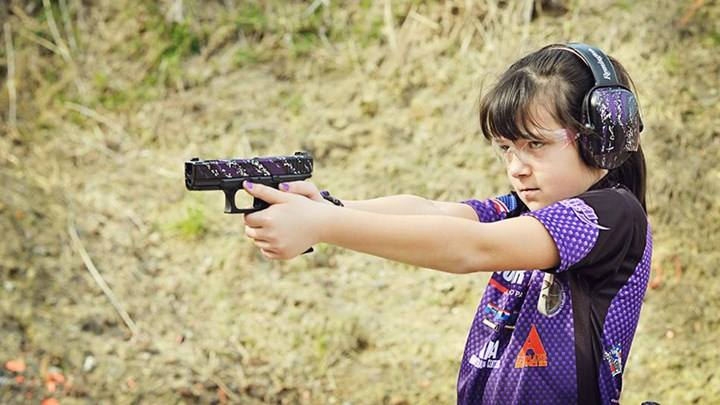 Young shooter Shyanne Roberts enjoys stepping up to the line in competition.