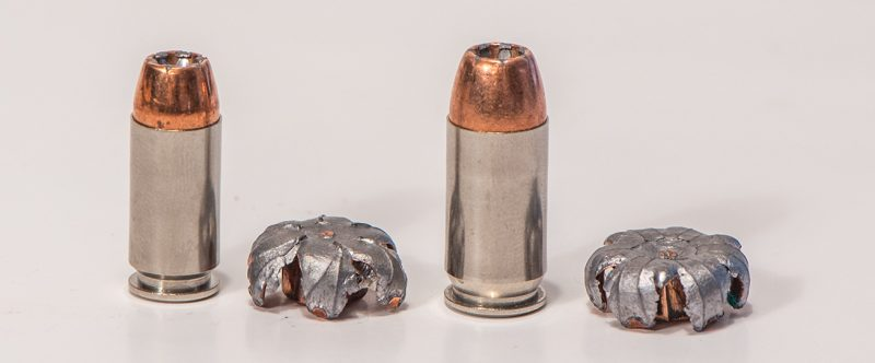 The Speer Gold Dot is probably the most proven of all bonded defensive handgun bullets. It's available in most defensive handgun calibers, and it's used by many police agencies.