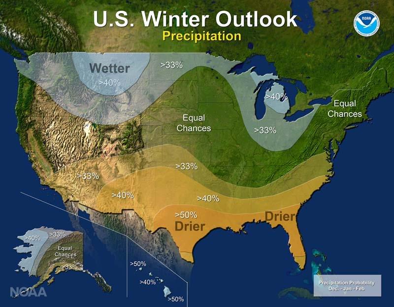 NOAA Precipitation U.S. Winter Outlook