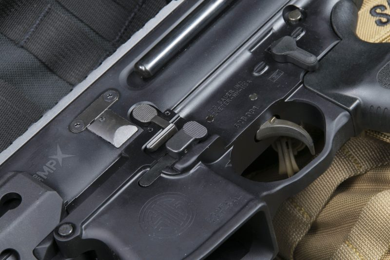 The MPX's receiver features an ambi magazine and bolt release controls, allowing shooters to keep their firing hand where it belongs – on the pistol grip.