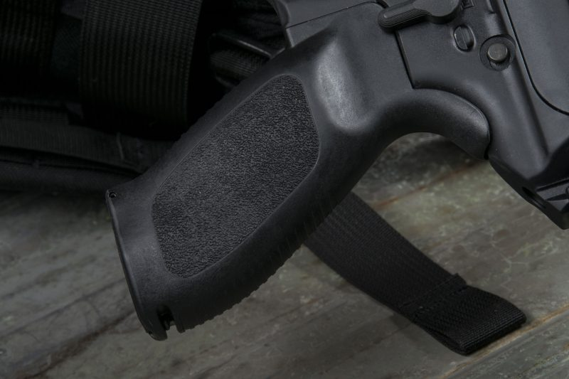The MPX uses the same swelled-palm pistol grip found on most of SIG's semi-automatic rifles