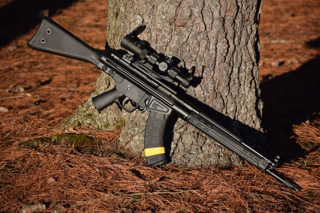 The PTR 32 is a 7.62x39mm derivative of the iconic G3/HK 91 battle rifle.