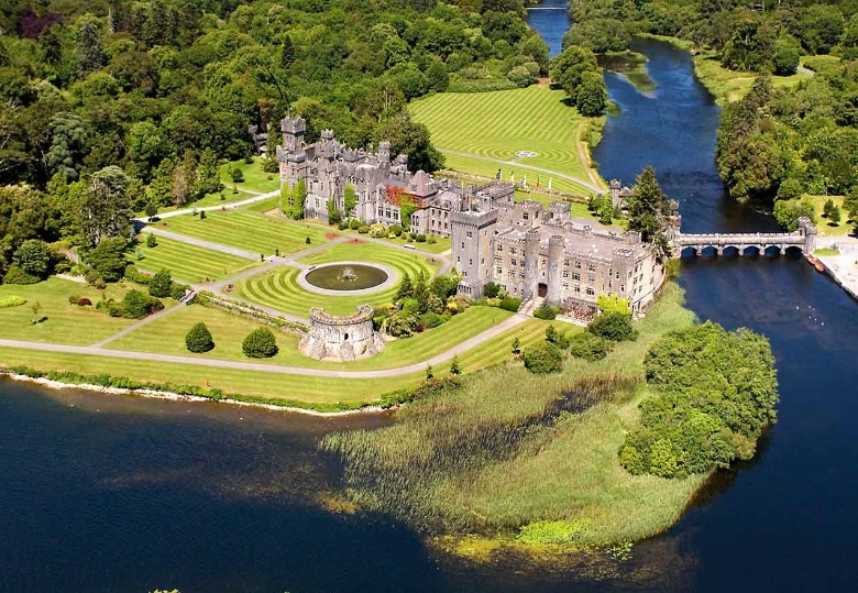 Aerial view of the 800-year-old Baronial Castle.