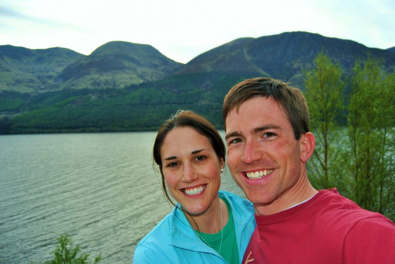 The author and his wife, Jodie, taking a selfie from the Letterfinlay Lodge deck.