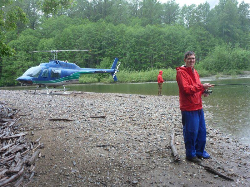 Helicopter + fishing = heli-fishing!