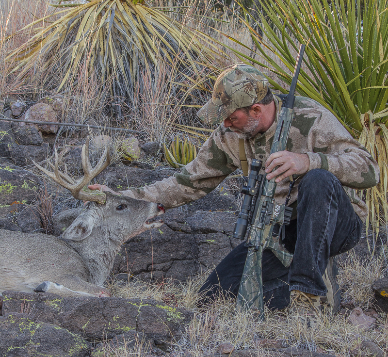 The author loves pursuing whitetails with an AR.