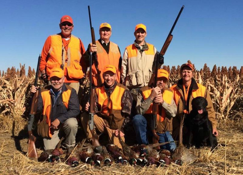 Recent Scatter Gun Lodge team pic; Deb is on the far right, the author is in the middle of the bottom row.