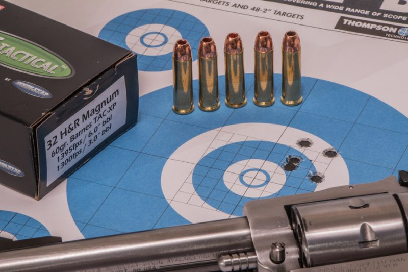 With the ability to fire five cartridges, the Single Seven is very versatile. This 60-grain TAC-XP load from Double Tap is great for small game.