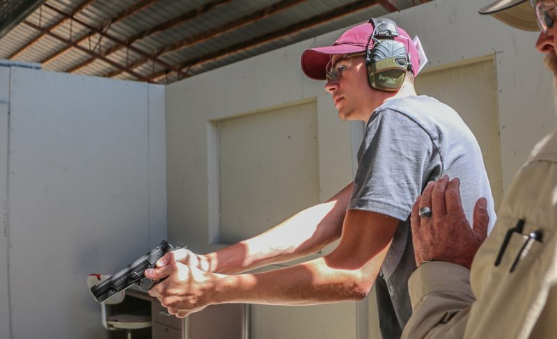 Students in the 250 Pistol Youth Course will learn firearm safety, basic marksmanship, and even how to negotiate a structure in a defensive situation.