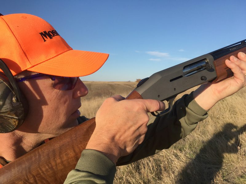 The author shooting clays with the Mossberg 930 Pro-Series Sporting Shotgun.