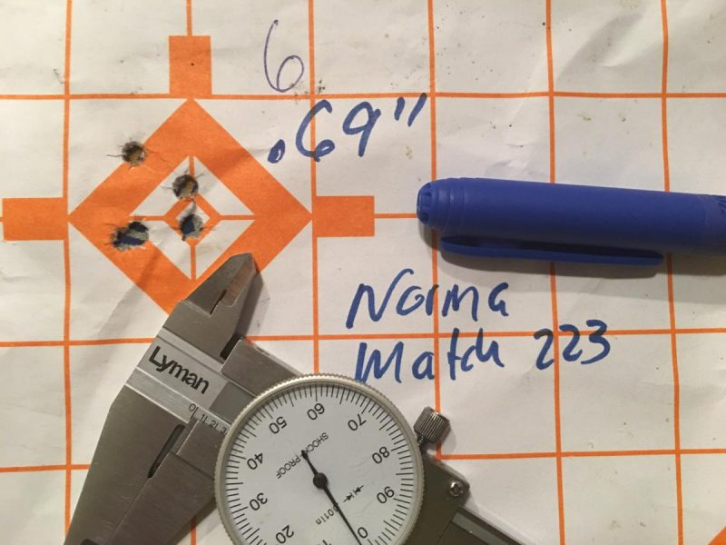 Targets like this one make zeroing easy. The 1-inch grid pattern helps you calculate exact turret adjustments to get on the bullseye.