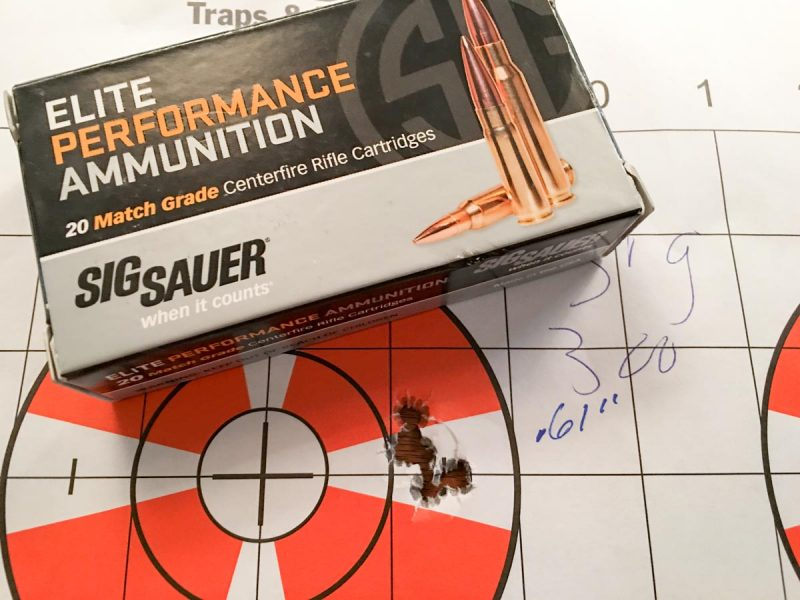 Even with a super-accurate ammo and rifle combination, it's best to fire a group when zeroing and then use the average center point.