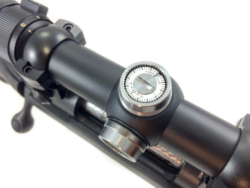 Most scopes use a 1/4-inch per click adjustment.