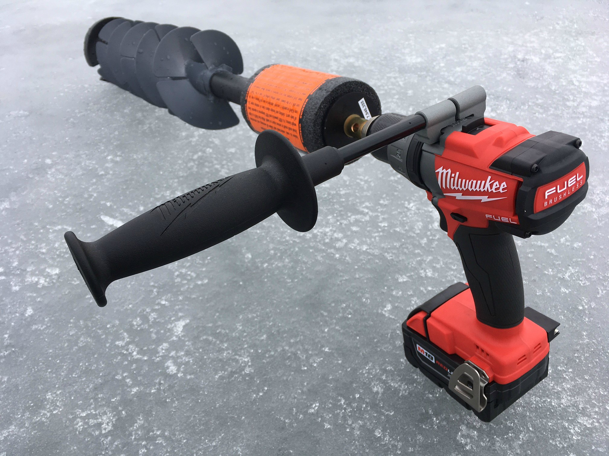 K Drill Auger Milwaukee M18 Ice Fishing Game Changer Outdoorhub