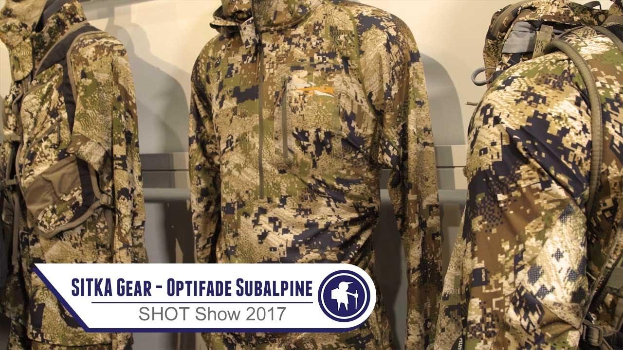 sitka u0026 39 s new optifade subalpine camo at shot show 2017