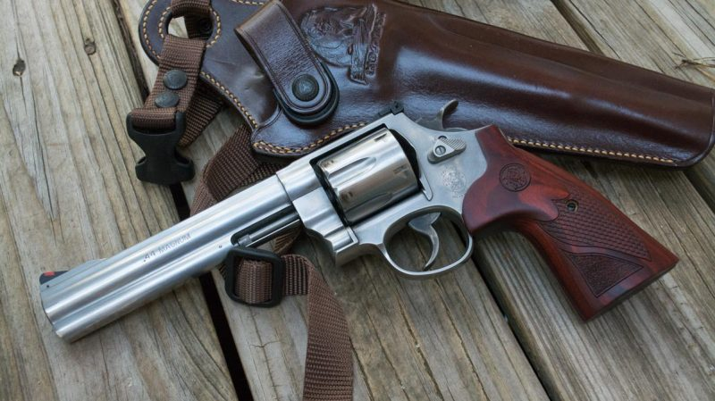 The Smith & Wesson Model 29 Deluxe .44 Magnum sure is a nice looking revolver, isn't it?