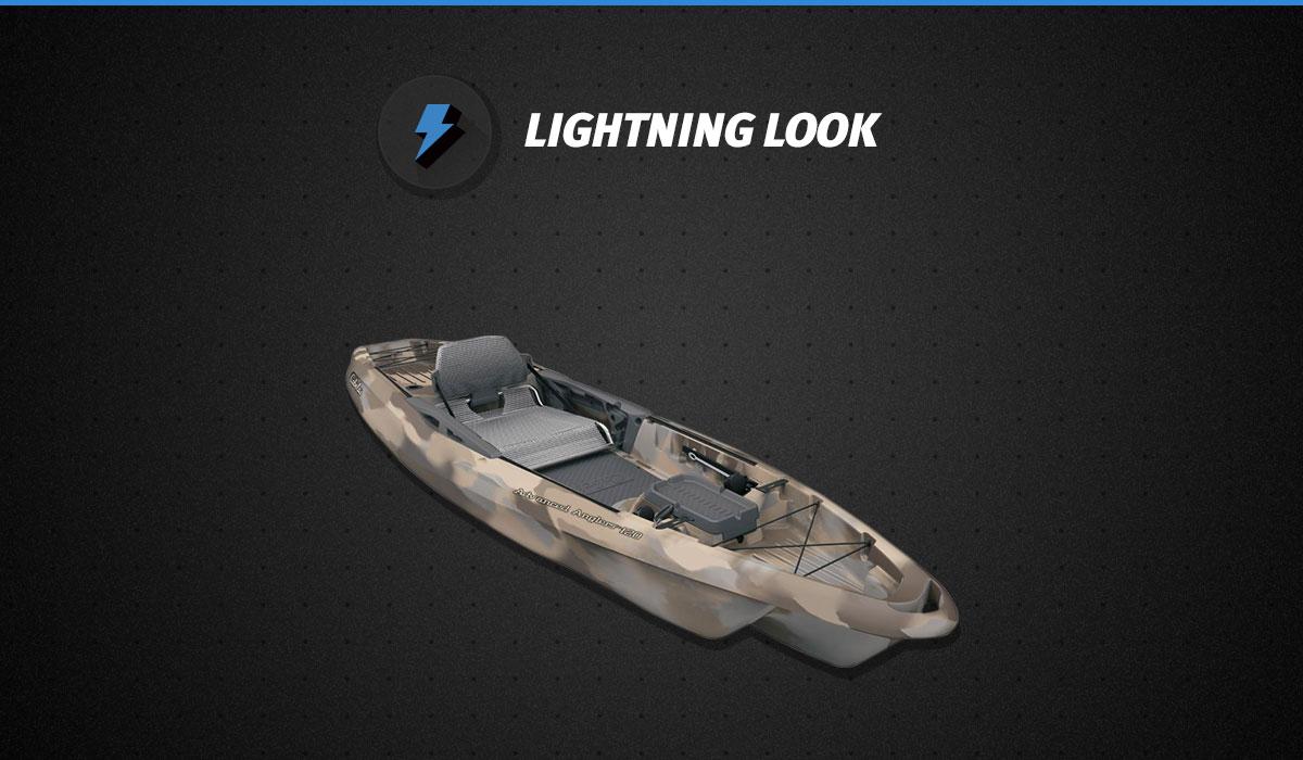 Lightning look cabela 39 s advanced anglers 120 fishing for Cabelas fishing kayak