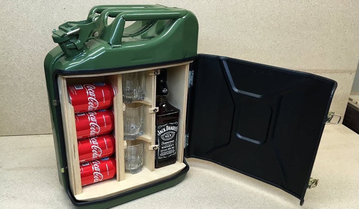 Video Make Your Own Travel Mini Bar From A Jerry Can