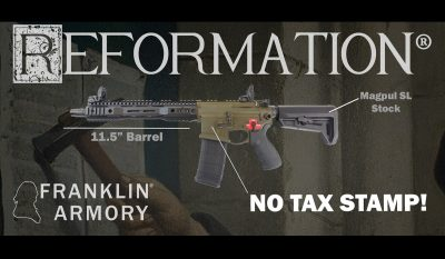Franklin Armory Introduces Short Barrel 'Firearm' With Standard AR Stock and ATF Approval
