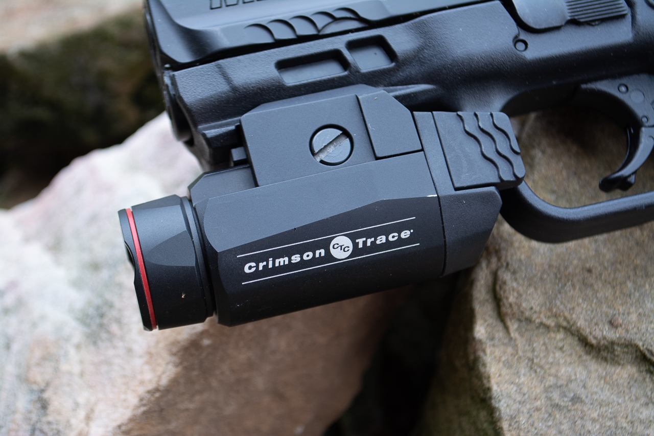 The Crimson Trace CMR-208 fits most any handgun (or long gun) with a rail and throws out a lot of light.