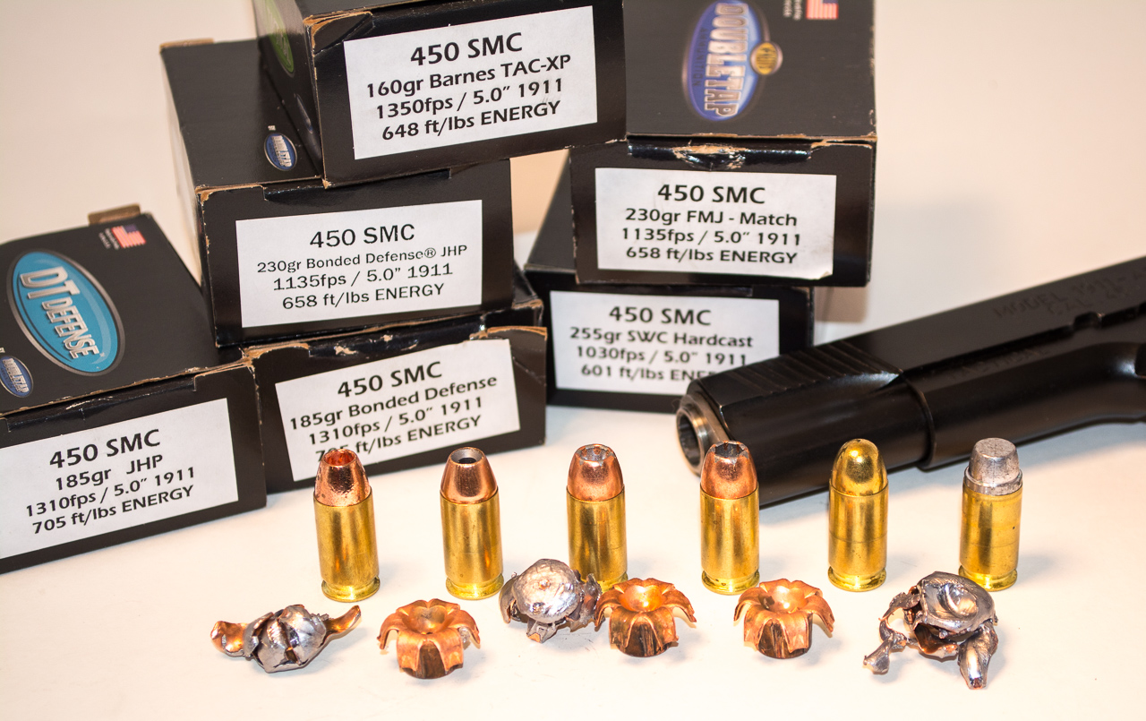 450 SMC offers a range of options from 16-grain to 255-grain hardcast.