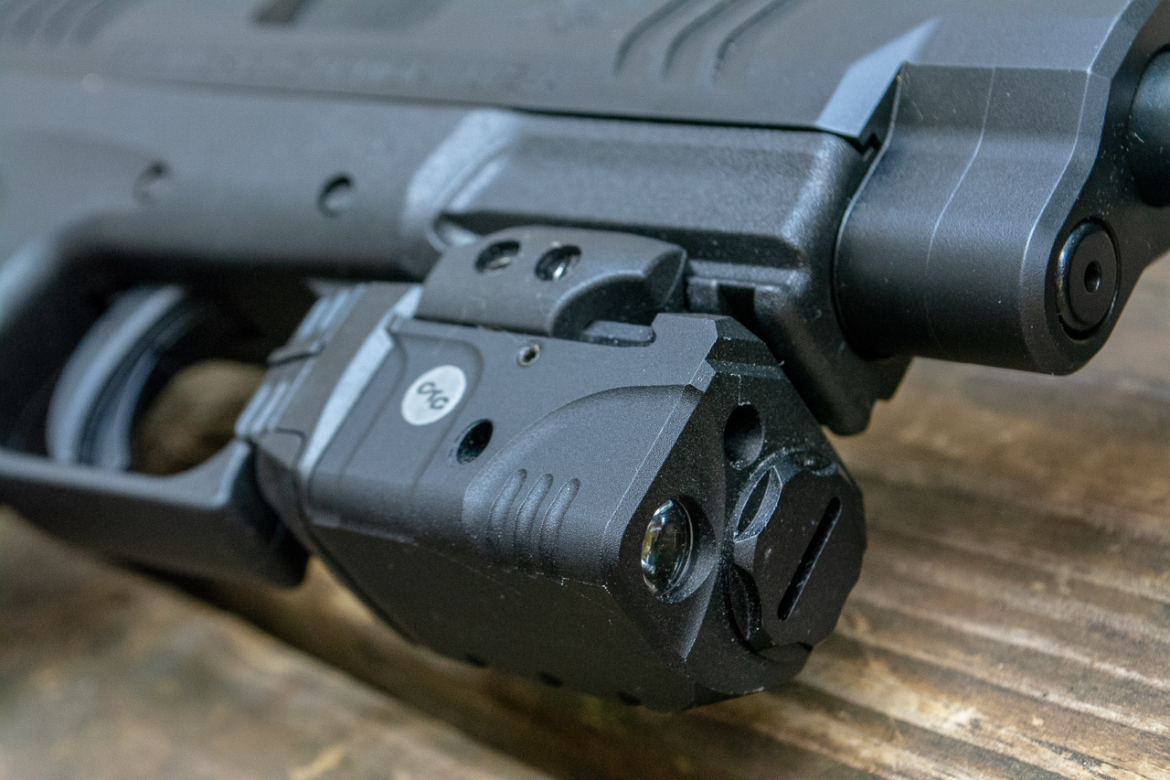 I elected to combine the light and laser functions with this Crimson Trace Rail Master Pro.