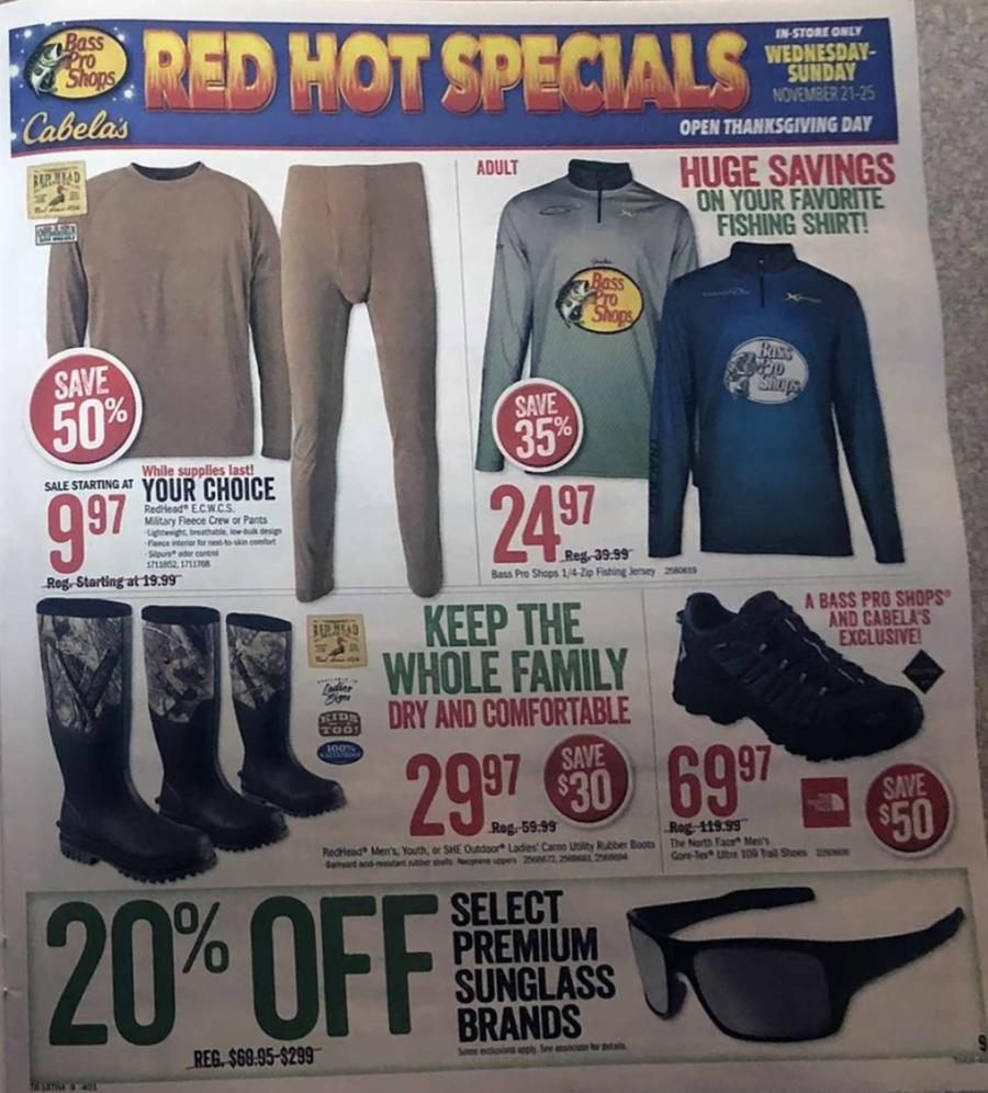 The Cabelas Black Friday & Bass Pro Shops Black Friday Ad is
