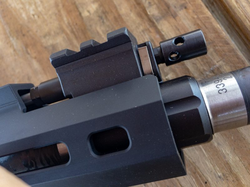 The gas block is adjustable so you can tune the system to your ammo or use a suppressor with ideal gas flow.
