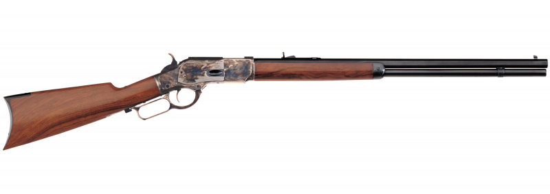 The Uberti 1873 Sporting Rifle is a longer version and holds 13 rounds in the tubular magazine.