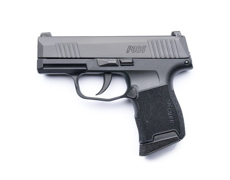 The grip on the Sig Sauer P365 looks really small but the double-stack design makes it fit the hand.